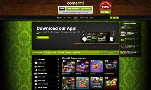 comeon casino welcome offer