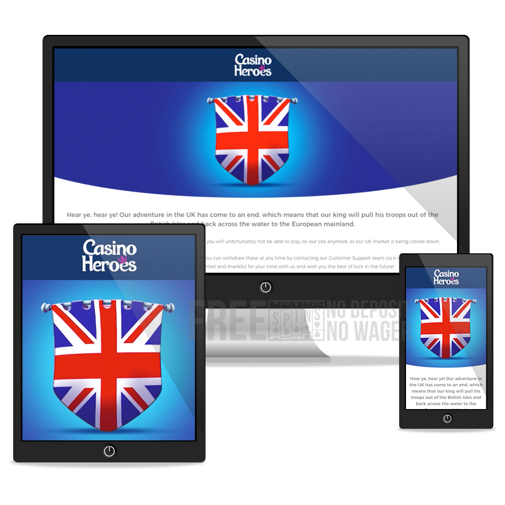 Casino heroes desktop, tablet, mobile view