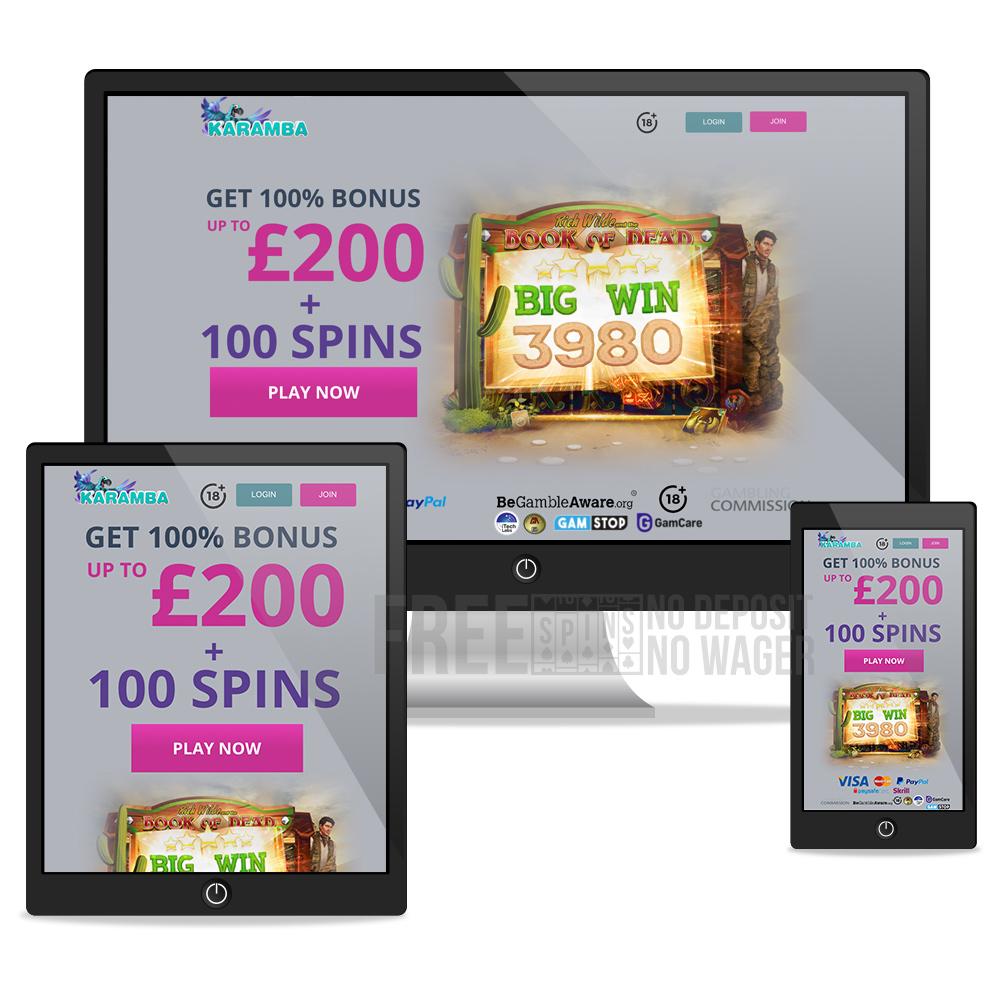 Karamba casino mobile desktop tablet